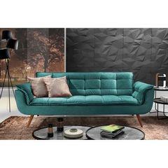 Sofa-3-Lugares-Azul-Esmeralda-em-Veludo-226m-Taurus