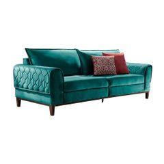 Sofa-3-Lugares-Azul-Esmeralda-em-Veludo-204m-Apus