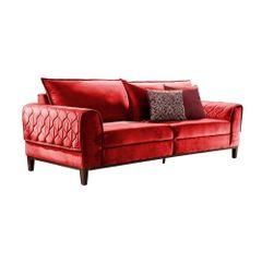 Sofa-3-Lugares-Vermelho-em-Veludo-204m-Apus