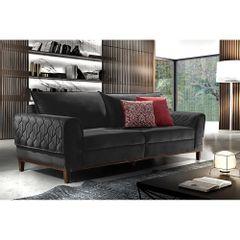 Sofa-3-Lugares-Preto-em-Veludo-204m-Apus-Ambiente