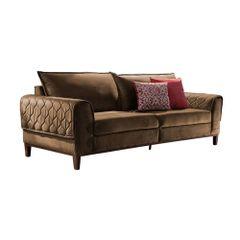 Sofa-3-Lugares-Marrom-em-Veludo-204m-Apus