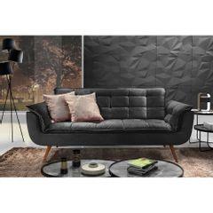 Sofa-2-Lugares-Preto-em-Veludo-176m-Taurus-Ambiente