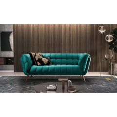 Sofa-2-Lugares-Azul-Esmeralda-em-Veludo-177m-Hortensia-Ambiente