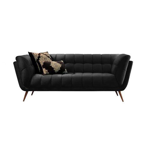 Sofa-2-Lugares-Preto-em-Veludo-177m-Hortensia