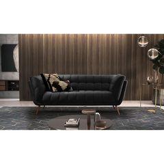 Sofa-2-Lugares-Preto-em-Veludo-177m-Hortensia-Ambiente