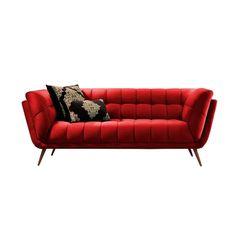 Sofa-2-Lugares-Vermelho-em-Veludo-177m-Hortensia