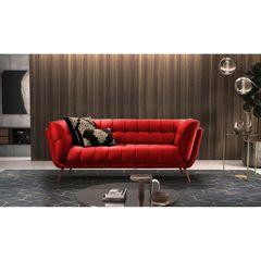 Sofa-2-Lugares-Vermelho-em-Veludo-177m-Hortensia-Ambiente