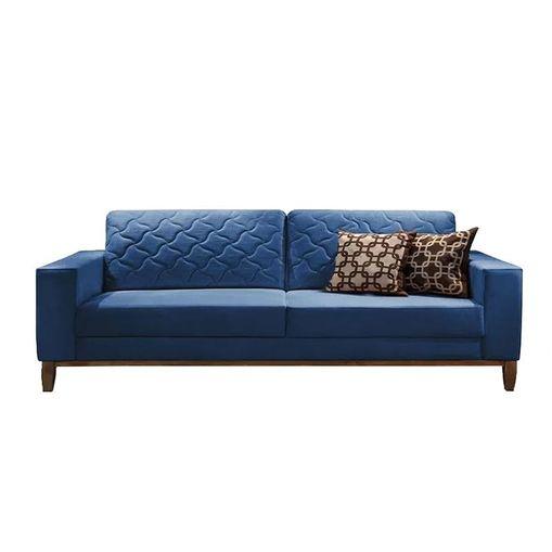 Sofa-2-Lugares-Azul-Cristal-em-Veludo-164m-Dalia