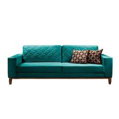 Sofa-2-Lugares-Azul-Esmeralda-em-Veludo-164m-Dalia