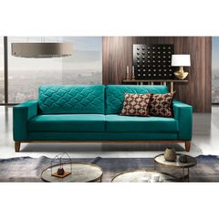 Sofa-2-Lugares-Azul-Esmeralda-em-Veludo-164m-Dalia-Ambiente