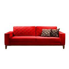 Sofa-2-Lugares-Vermelho-em-Veludo-164m-Dalia