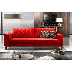 Sofa-2-Lugares-Vermelho-em-Veludo-164m-Dalia-Ambiente