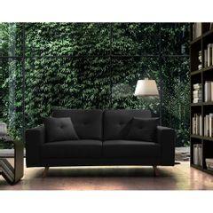 Sofa-2-Lugares-Preto-em-Veludo-164m-Maia-Ambiente