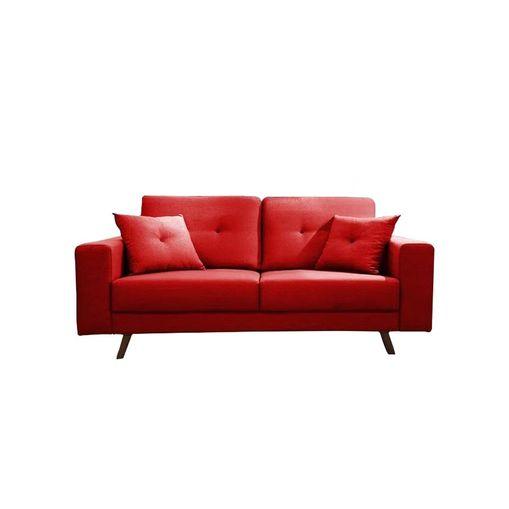Sofa-2-Lugares-Vermelho-em-Veludo-164m-Maia
