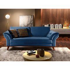 Sofa-2-Lugares-Azul-Cristal-em-Veludo-174m-Lilac-Ambiente