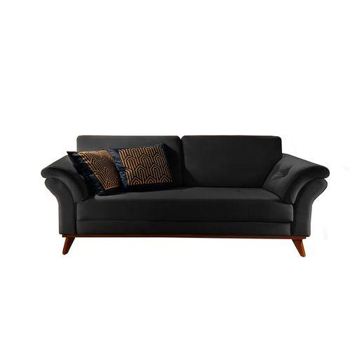 Sofa-2-Lugares-Preto-em-Veludo-174m-Lilac