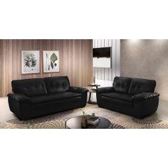 Sofa-3-Lugares-Preto-em-Korano-212m-Scarpa-Ambiente