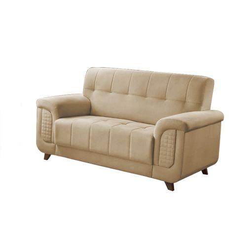 Sofa-2-Lugares-Bege-em-Veludo-155m-Foster