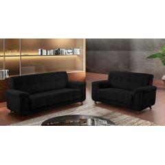 Sofa-2-Lugares-Preto-em-Veludo-155m-Foster-Ambiente