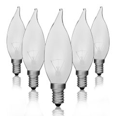 Kit-5-Lampadas-Incandescentes-Vela-Bico-Torto-Fosca-VL-32-E-14-25W-127V-Toplux