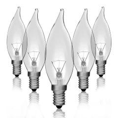 Kit-5-Lampadas-Incandescentes-Vela-Bico-Torto-Clara-VL-32-E-14-25W-220V-Toplux