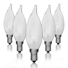 Kit-5-Lampadas-Incandescentes-Vela-Bico-Torto-Fosca-VL-32-E-14-25W-220V-Toplux