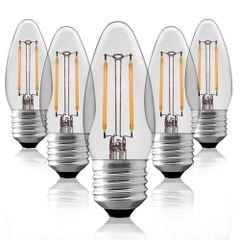 Kit-5-Lampadas-Vela-Filamento-LED-Clara-VL-35-E-27-2W-Branca-Fria-220V-Toplux