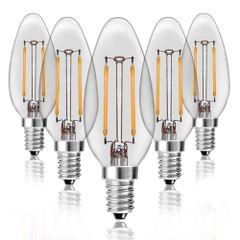 Kit-5-Lampadas-Vela-Filamento-LED-Clara-VL-35-E-14-4W-Branca-Quente-220V-Toplux