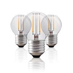 Kit-3-Lampadas-Bolinha-Filamento-LED-Clara-BG-45-E-27-2W-Branca-Quente-127V-Toplux