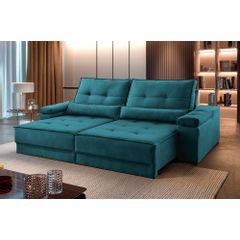 Sofa-Retratil-e-Reclinavel-3-Lugares-Esmeralda-210m-Kissen---Ambientada