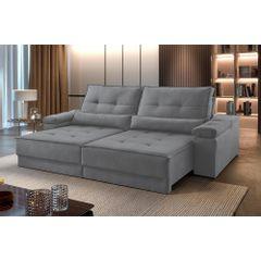 Sofa-Retratil-e-Reclinavel-3-Lugares-Cinza-210m-Kissen---Ambientada
