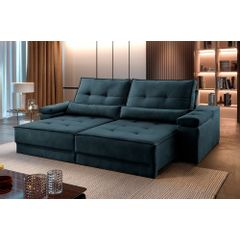 Sofa-Retratil-e-Reclinavel-4-Lugares-Azul-250m-Kissen---Ambientada