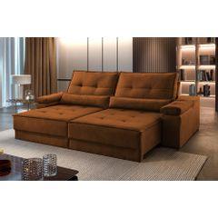 Sofa-Retratil-e-Reclinavel-4-Lugares-Ocre-250m-Kissen---Ambientada