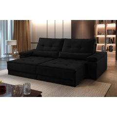Sofa-Retratil-e-Reclinavel-4-Lugares-Preto-290m-Kissen---Ambientada