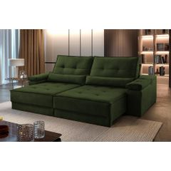 Sofa-Retratil-e-Reclinavel-4-Lugares-Verde-Escuro-290m-Kissen---Ambientada