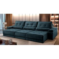 Sofa-Retratil-e-Reclinavel-6-Lugares-Azul-410m-Kissen---Ambientada