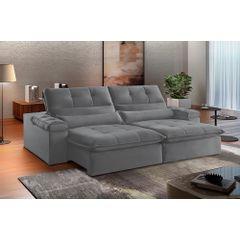 Sofa-Retratil-e-Reclinavel-3-Lugares-Cinza-210m-Atlantique---Ambientada