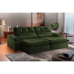Sofa-Retratil-e-Reclinavel-4-Lugares-Verde-Escuro-270m-Atlantique---Ambientada