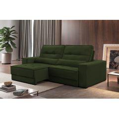 Sofa-Retratil-e-Reclinavel-4-Lugares-Verde-Escuro-270m-Jacarta---Ambientada