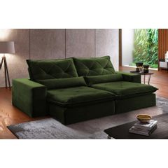 Sofa-Retratil-e-Reclinavel-4-Lugares-Verde-Escuro-270m-Delhi---Ambientada
