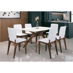 Mesa-de-Jantar-140cm-com-Tampo-de-Vidro-CafeOff-White-Bella-Amb