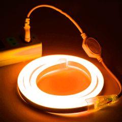Mangueira-LED-NEON-FLEX-PRO-Amarela-Conector-Tomada