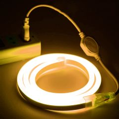 Mangueira-LED-NEON-FLEX-PRO-Branca-Quente-Conector-Tomada