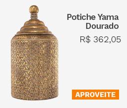 Potiche Yama Dourado