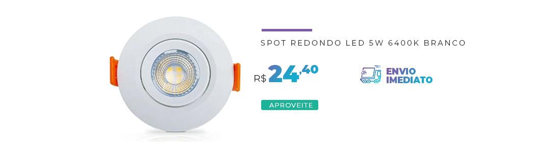 Spot Redondo Led 5W 6400K Branco 05600 Ourolux